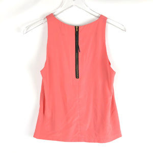 TOPSHOP Coral Tank Top with Zipper Back